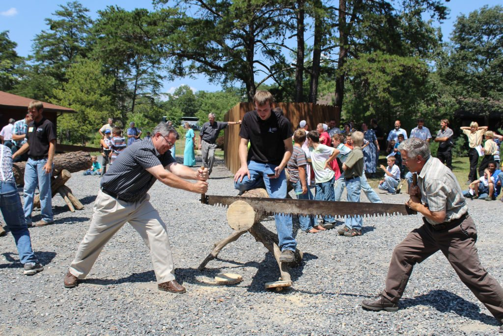 Allegany Boys camp Open house wood cutting